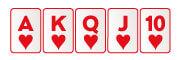 Escalera real de color en poker virtual