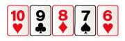 Escalera en poker en directo