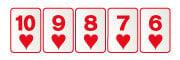 Escalera de color en virtual poker