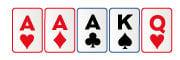 Trío en poker en vivo