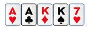 Doble pareja en live poker